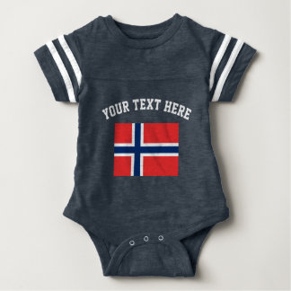Norway flag football sports jersey baby bodysuit