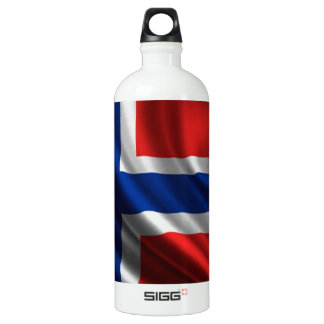Norway Flag Full HD Water Bottle