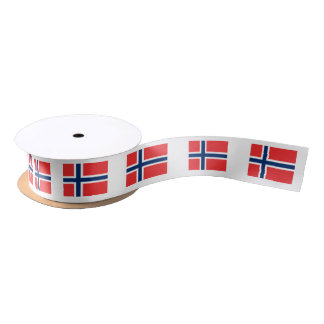 Norway flag gift ribbon for Norwegian theme party