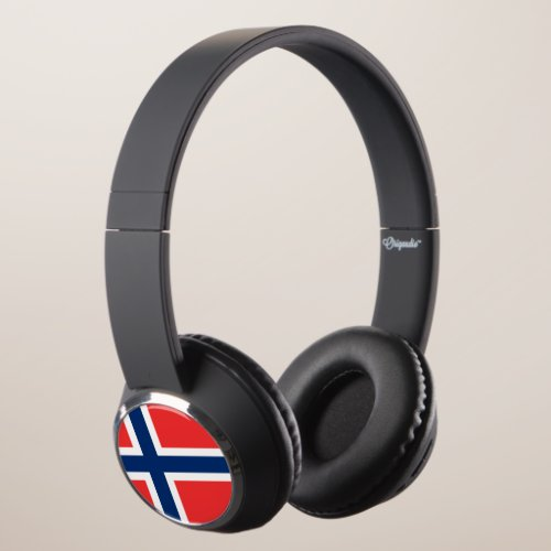 Norway Flag Headphones