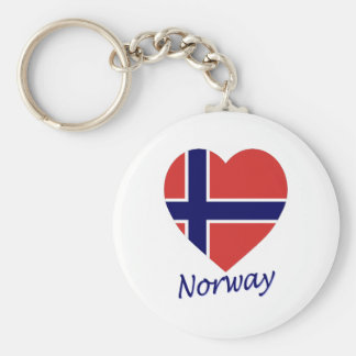 Norway Flag Heart Keychain