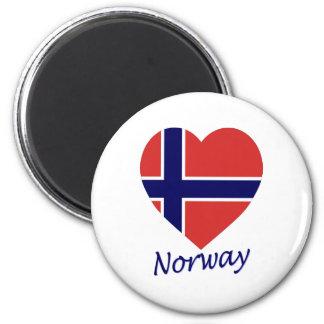 Norway Flag Heart Magnet