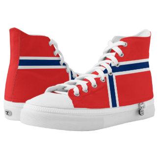 Norway Flag High-Top Sneakers