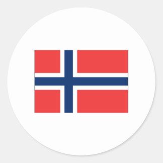 Norway FLAG International Round Sticker