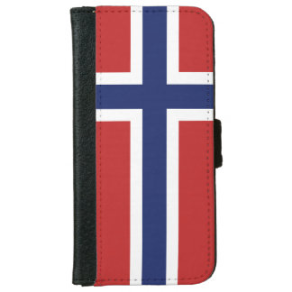 Norway Flag iPhone 6/6s Wallet Case