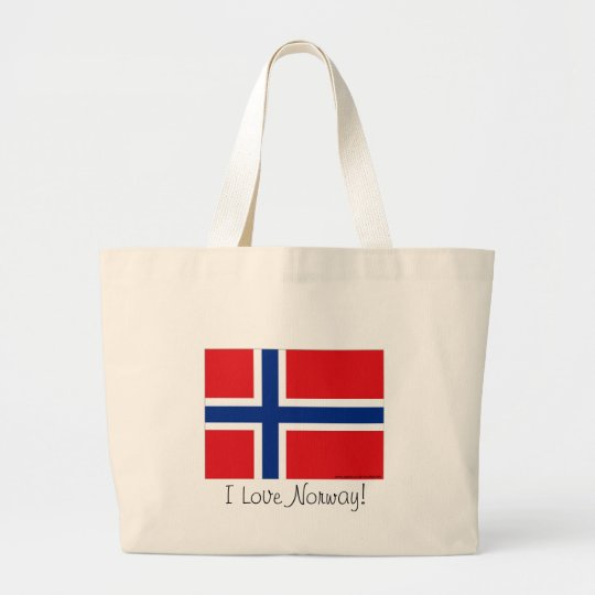 Norway flag large tote bag
