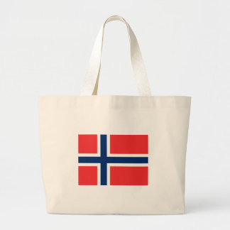 Norway Flag Large Tote Bag
