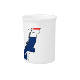 Norway Flag Map Drink Pitcher