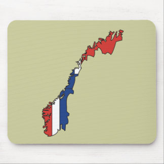 Norway flag map mouse pad