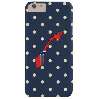 norway Flag Map on Polka Dots Barely There iPhone 6 Plus Case