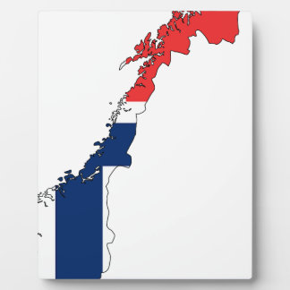 Norway Flag Map Plaque