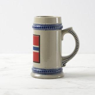 Norway Flag 18 Oz Beer Stein