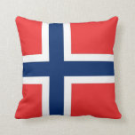 Norway Flag on American MoJo Pillow