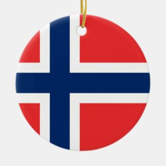 Norway Flag Christmas Tree Ornament