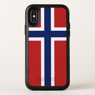 Norway Flag OtterBox Symmetry iPhone X Case