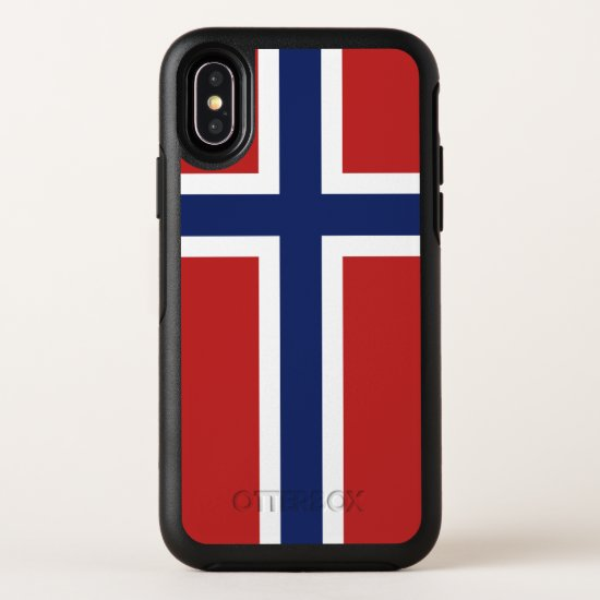 Norway Flag OtterBox Symmetry iPhone X Case