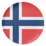 Norway Flag Party Plate