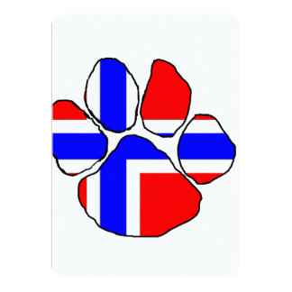 norway-flag paw.png 5x7 paper invitation card