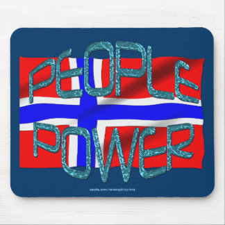 Norway FLAG People Power Independence Motivation Mouse Pad