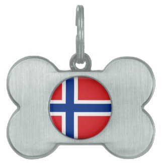 Norway Flag Pet Tags