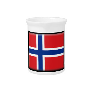Norway Flag Drink Pitchers