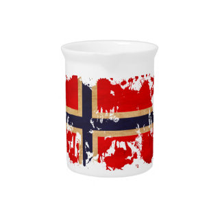 Norway Flag Beverage Pitcher
