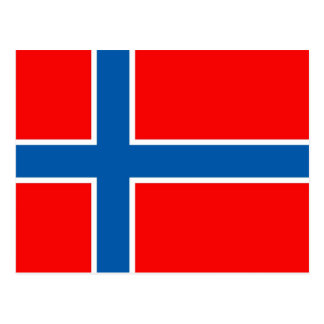 Norway Flag Post Card