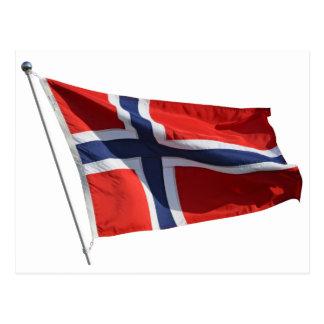 norway flag postcard