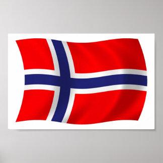 Norway Flag Poster Print