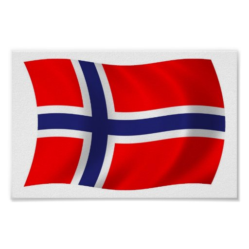 Norway Flag Poster Print