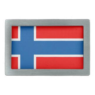 Norway flag rectangular belt buckle