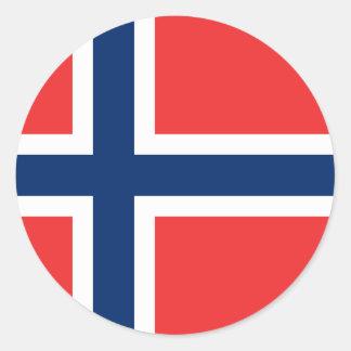 Norway Flag Round Stickers pack Sticker