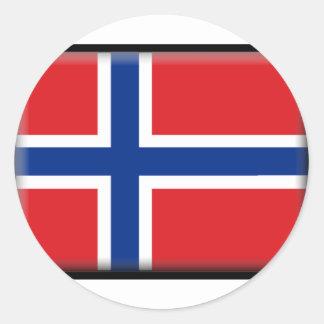 Norway Flag Round Stickers