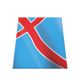 Norway Flag travel poster Canvas Print