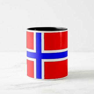 Norway Flag Two-Tone Coffee Mug