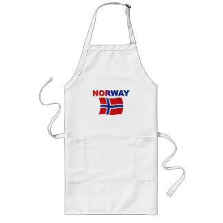 Norway Flag w/inscription Long Apron