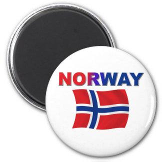 Norway Flag w/inscription Magnet