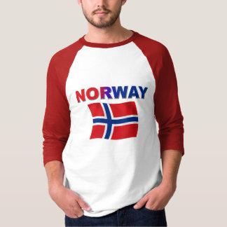 Norway flag long sleeve t-shirt white dress