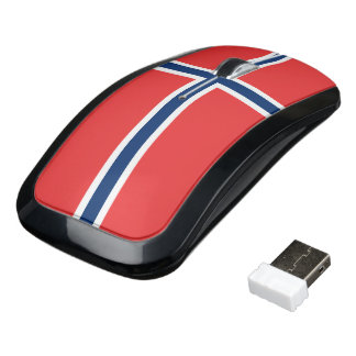 Norway Flag Wireless Mouse