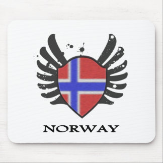 NORWAY FLAG WITH STYLE MOUSE PAD
