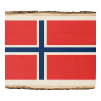 Norway Flag Wood Panel