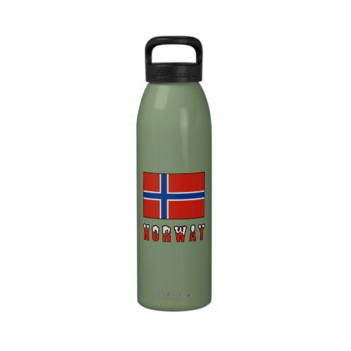 Norway Flag & Word Snow Drinking Bottles