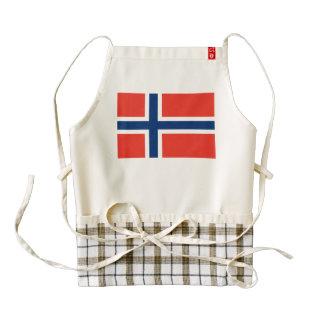 Norway Flag Zazzle HEART Apron