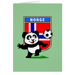 Greeting Card with Norway Football Panda design