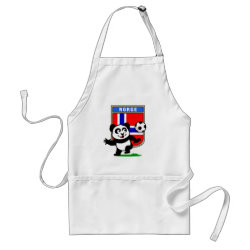 Apron with Norway Football Panda design