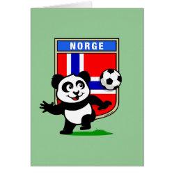 Greeting Card with Norway Football Panda design