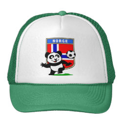 Trucker Hat with Norway Football Panda design