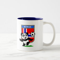 Two-Tone Mug with Norway Football Panda design
