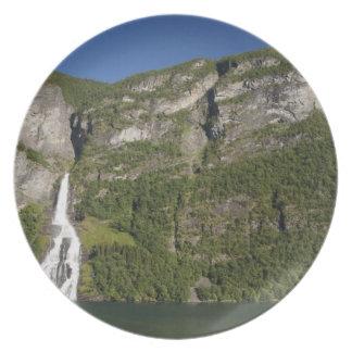 Norway, Geirangerfjord (UNESCO), Geiranger. Plate