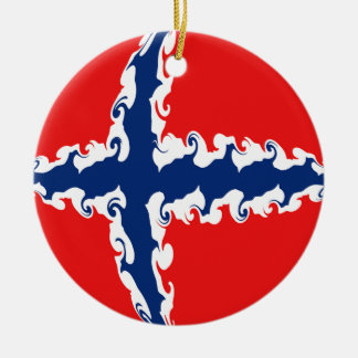 Norway Gnarly Flag Ceramic Ornament